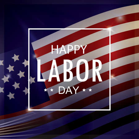 happy labor day wallpaper 向量圖像
