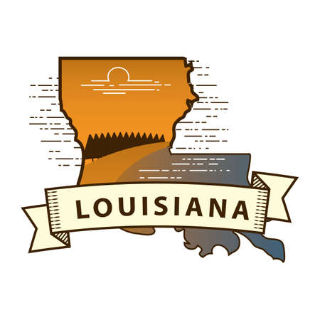 louisiana state: louisiana state map Illustration