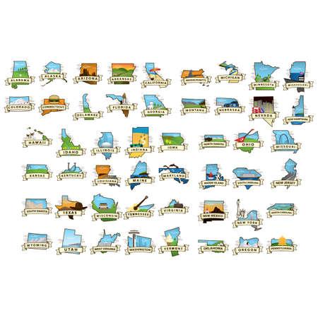 米国のマップのコレクション