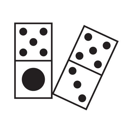 topple: dominoes Illustration