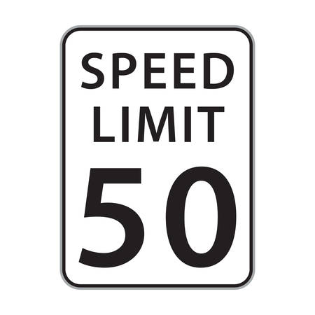 50: speed limit 50 sign