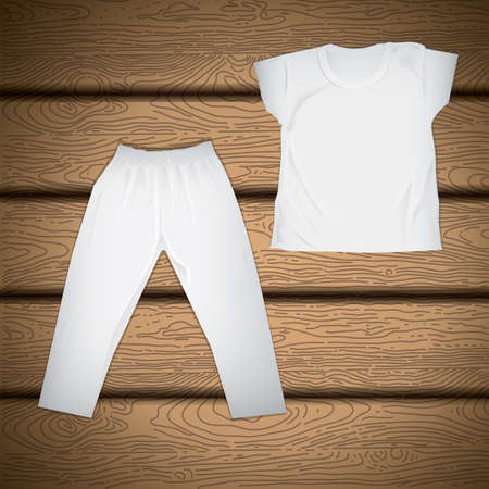 pant: t-shirt and pant Illustration