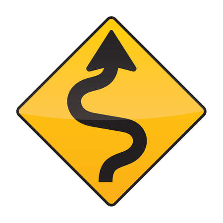 roadsigns: winding road sign