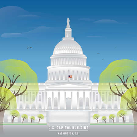 the capitol: us capitol building wallpaper Illustration