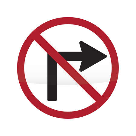 roadsigns: do not turn right sign