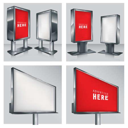 advertising billboard: set of advertising billboard