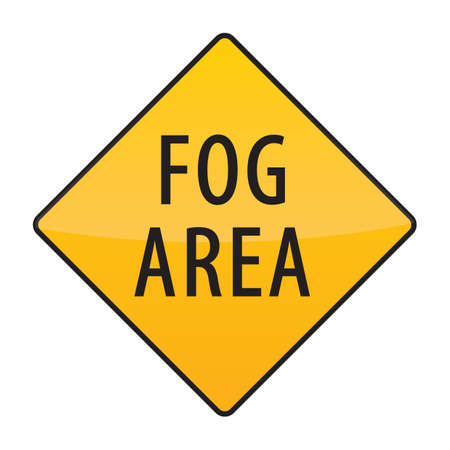 fog: fog area warning sign
