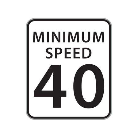 40: minimum speed 40 sign
