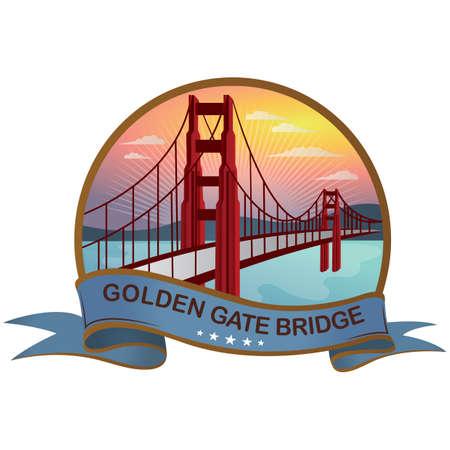 ゴールデン ゲート ブリッジ  イラスト・ベクター素材