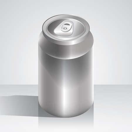 lata de refresco: lata de soda en blanco