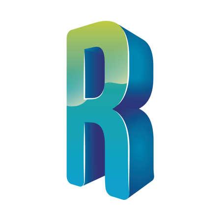 consonant: letter r Illustration