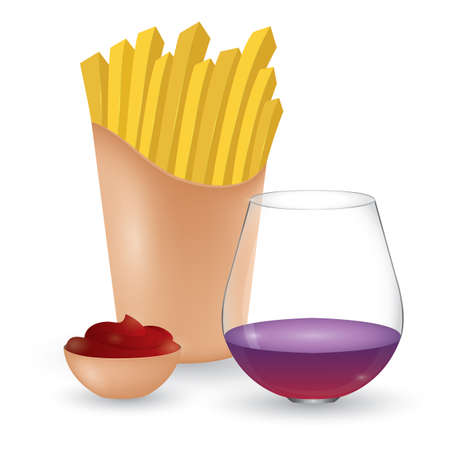 french fries: french fries and drink