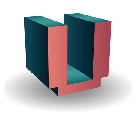 vowel: alphabet u Illustration