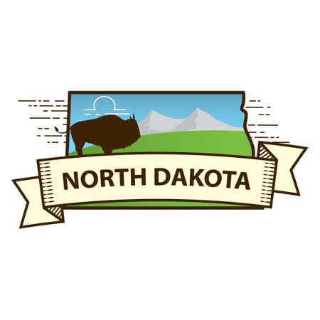 dakota: north dakota state map