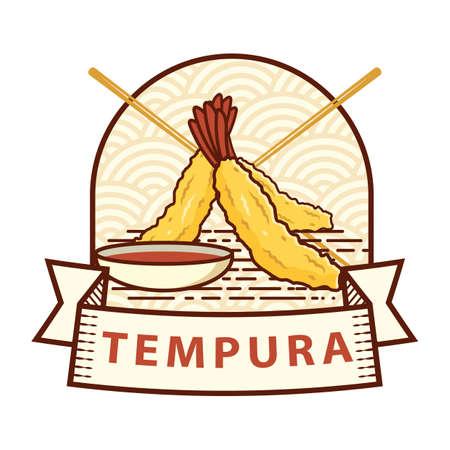 tempura label Vektorové ilustrace