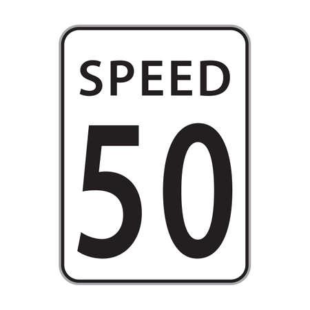 50: speed 50 sign Illustration