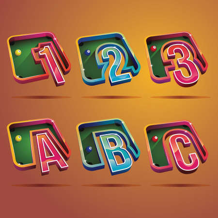 consonant: number and alphabet set