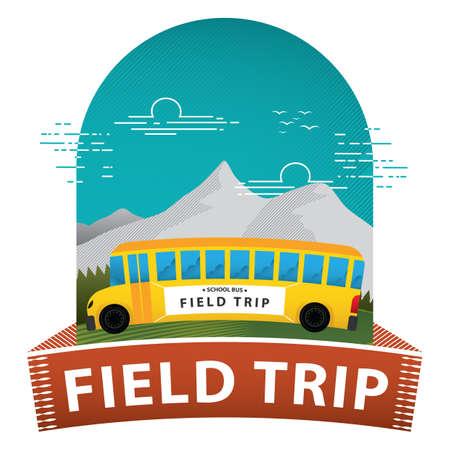Affiche de voyage sur le terrain Vecteurs