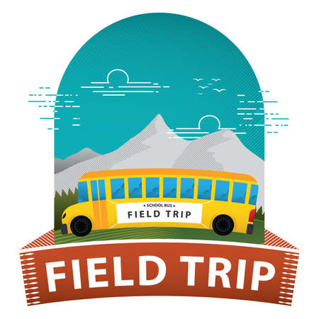 field trip poster Ilustrace