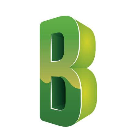 consonant: letter b Illustration