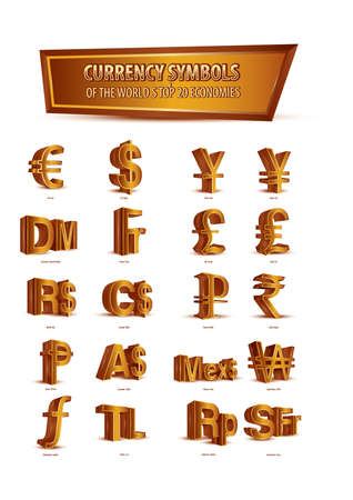 currency symbols: set of currency symbols