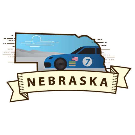 nascar: nebraska state map