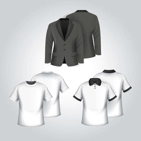 button front: set of clothes Illustration