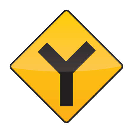 intersection: y intersection ahead