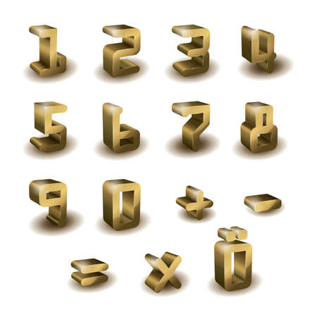 numbers: set of 3d numbers