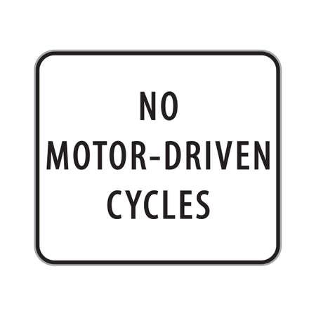 driven: no motor-driven cycles sign Illustration