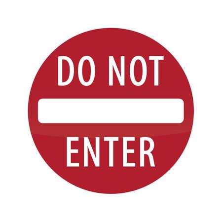 do not enter: do not enter road sign