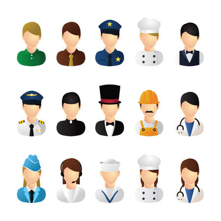 different jobs: collection of people and occupation