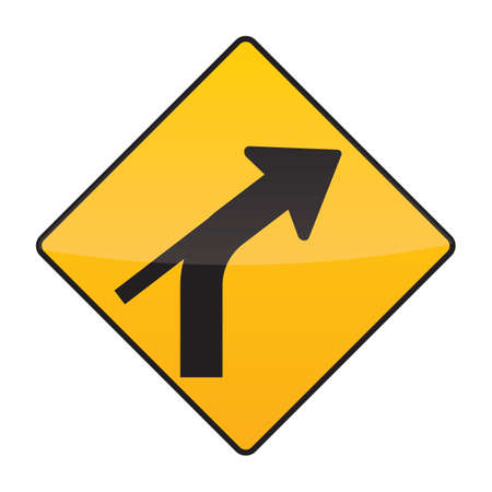 out: right curve out intersection