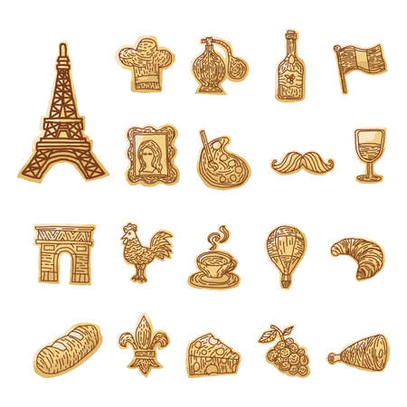 collection of french icons