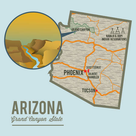 chandler: arizona state map