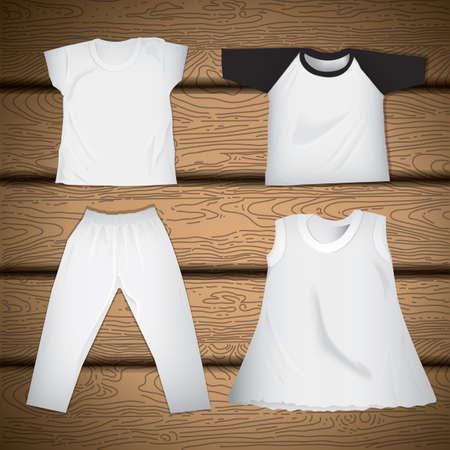 pant: kids wear collection Illustration