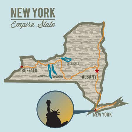 seneca: new york state map