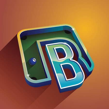 b ball: letter b Illustration