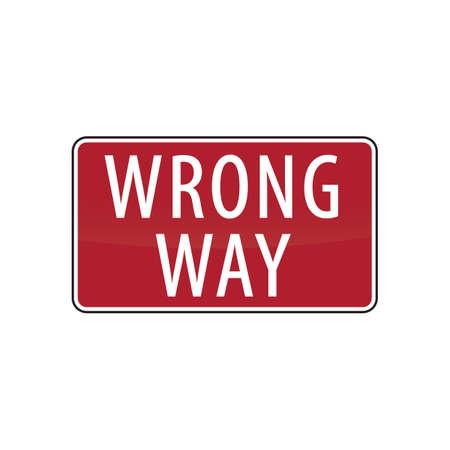 roadsigns: wrong way road sign