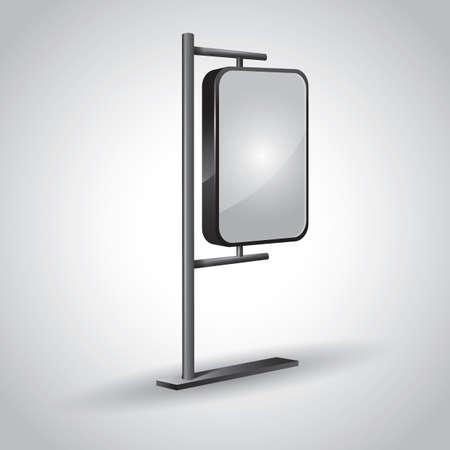 outdoor lights: blank advertising billboard