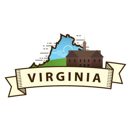 virginia: virginia state map Illustration