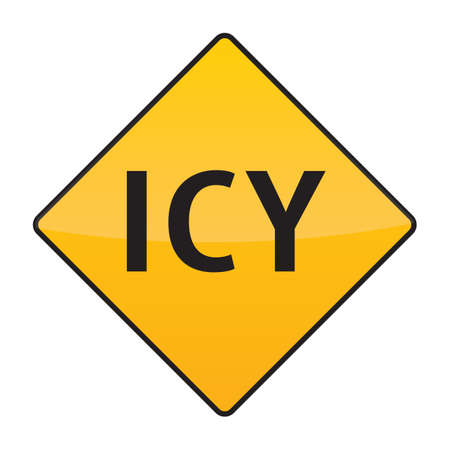 icy: icy warning sign