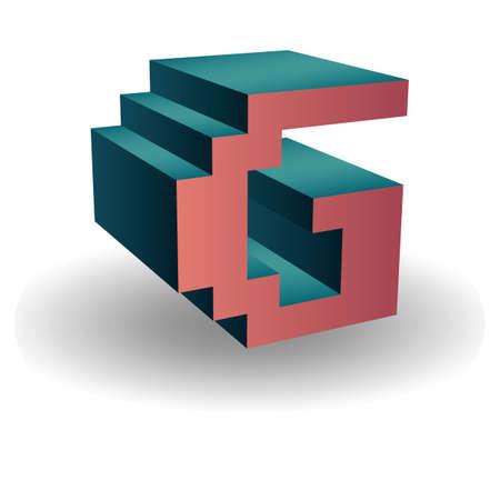 consonant: alphabet g Illustration