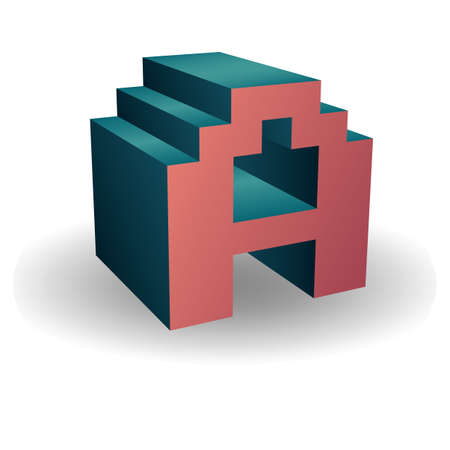 vowel: alphabet a Illustration
