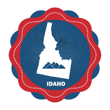 idaho state: idaho state map Illustration