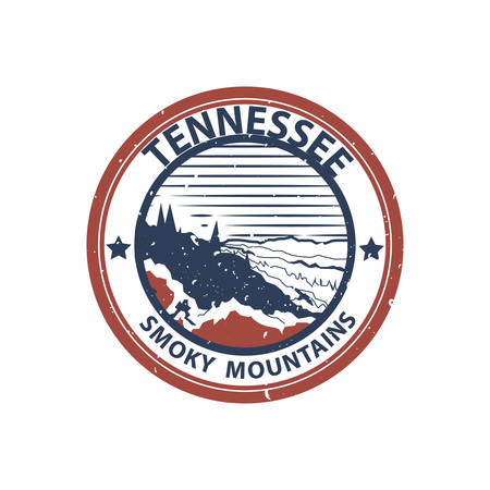 tennessee: tennessee smokey mountains Illustration