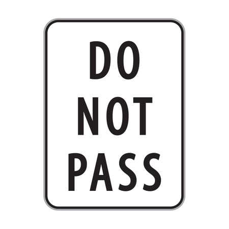 no pase: hacer ninguna señal pase Vectores