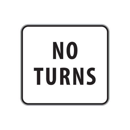turns: no turns sign