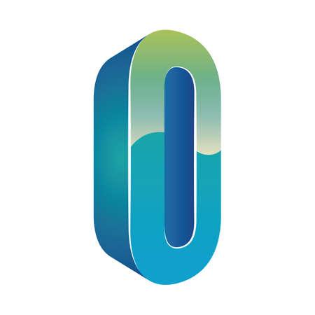 vowel: letter o Illustration