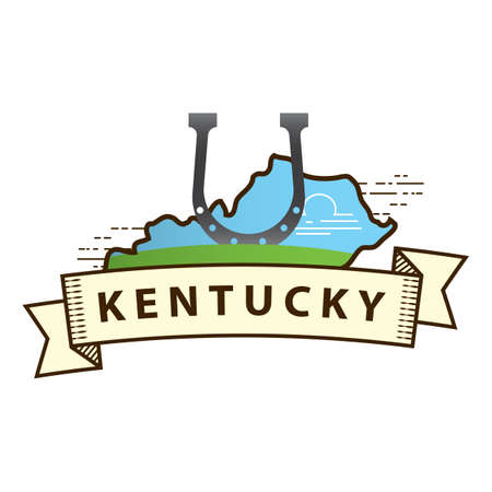 kentucky: kentucky state map Illustration
